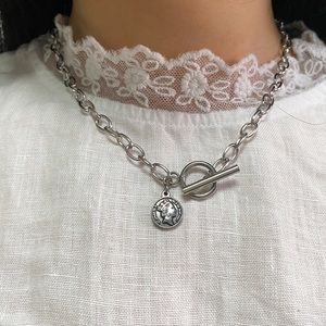 925 toggle coin necklace